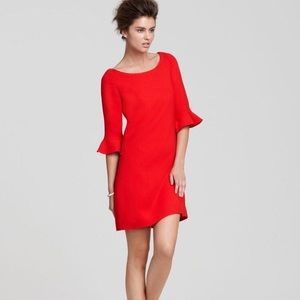 Kate Spade Luna red dress with ruffle sleeves